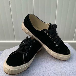 Superga Black Velvet Sneakers